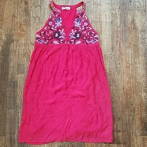 NWOT THML embroidered dress size small